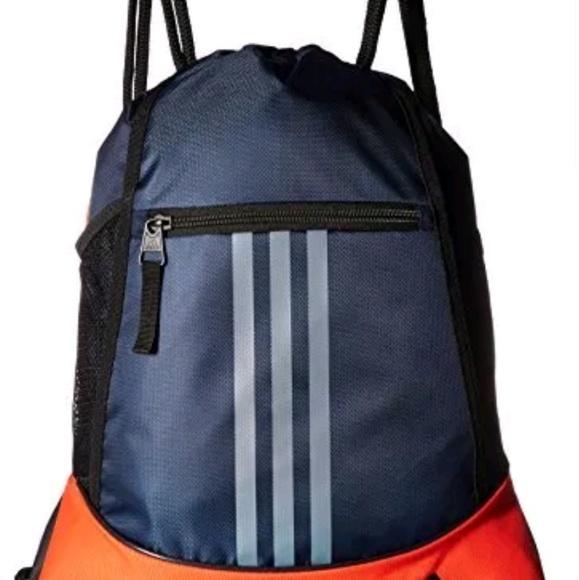 NEW w  tag Adidas Backpack Cinch Sack Pouch Bag. NWT 5f94ec6648851